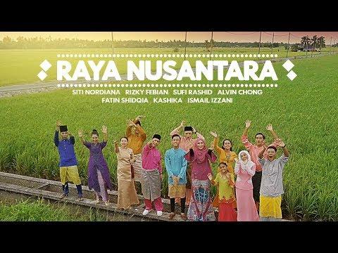 Cover Lagu Raya Nusantara [Lebaran] - Rizky Febian, Fatin Shidqia, Siti Nordiana, Ismail Izzani, Sufi Rashid STAFABAND