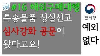 16 관세청 특송물품 성실신고 통관 심사 강화예정 20…