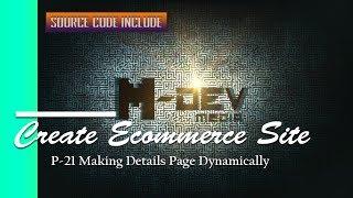P-21 Details-Seite Dynamisch Erstellen E-Commerce-Website-Tutorial