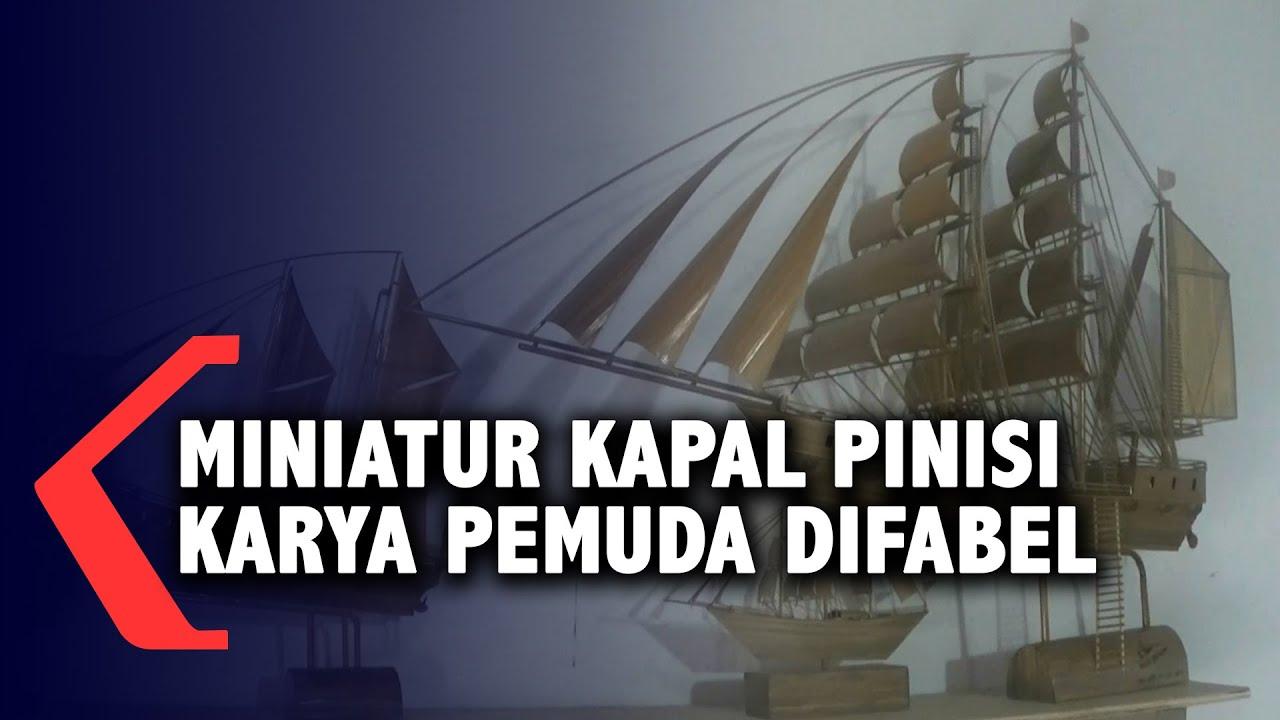 Miniatur Kapal Pinisi Karya Pemuda Difabel Terjual Hampir Seluruh Jawa Timur