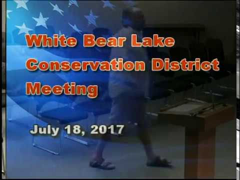 White Bear Lake Conservation District Meeting July 18, 2017