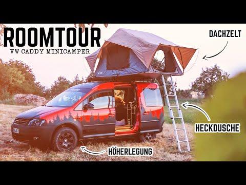 vw-caddy-minicamper-roomtour---wenig-raum-perfekt-genutzt!-heckdusche,-dachzelt-und-kaffeemaschine!