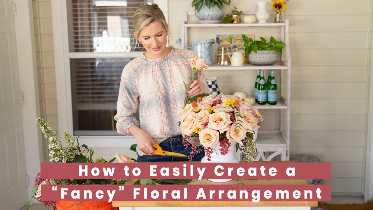Easy To Make Fancy Flower Arrangement Tutorial Youtube