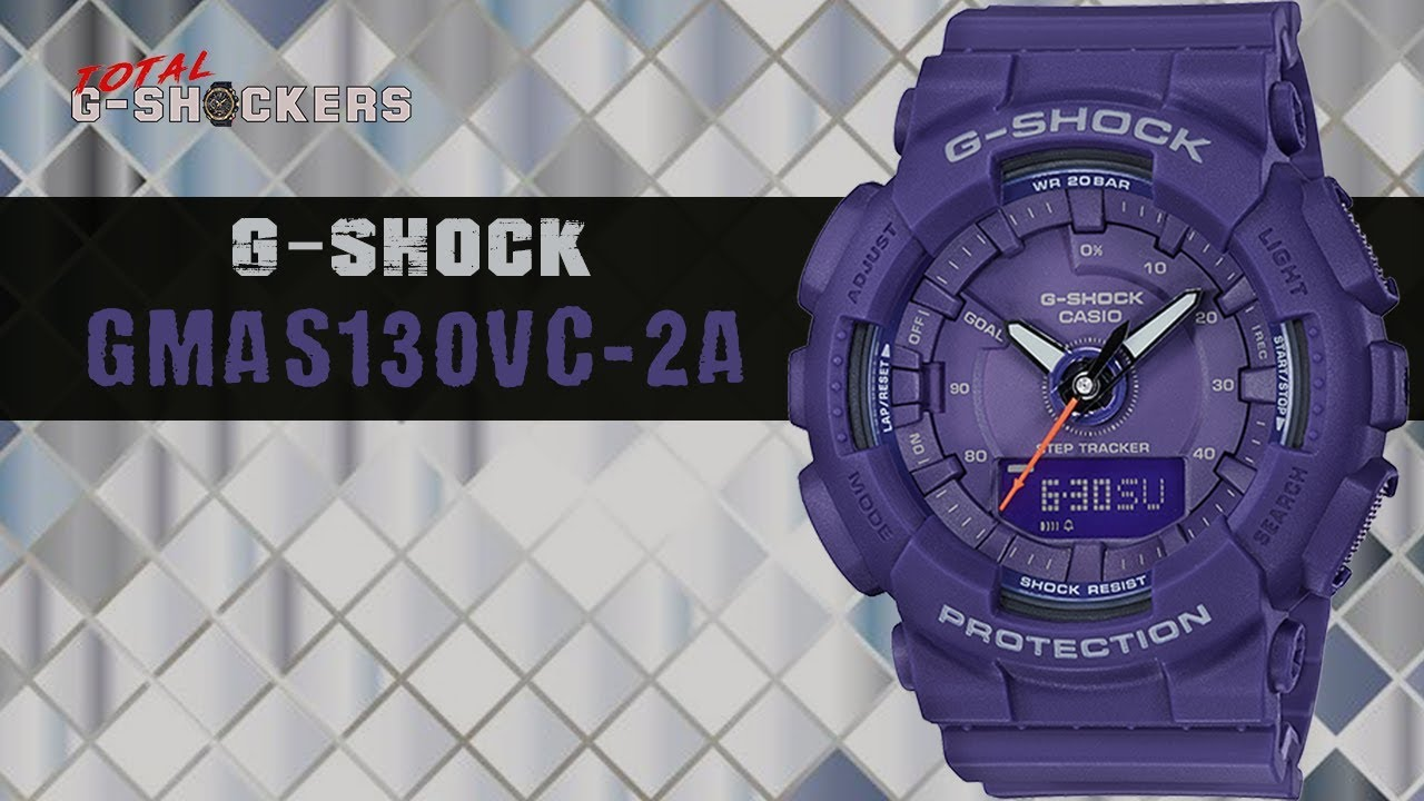 978dfa4d6e35b Casio G-SHOCK GMAS130VC-2A Step Tracker