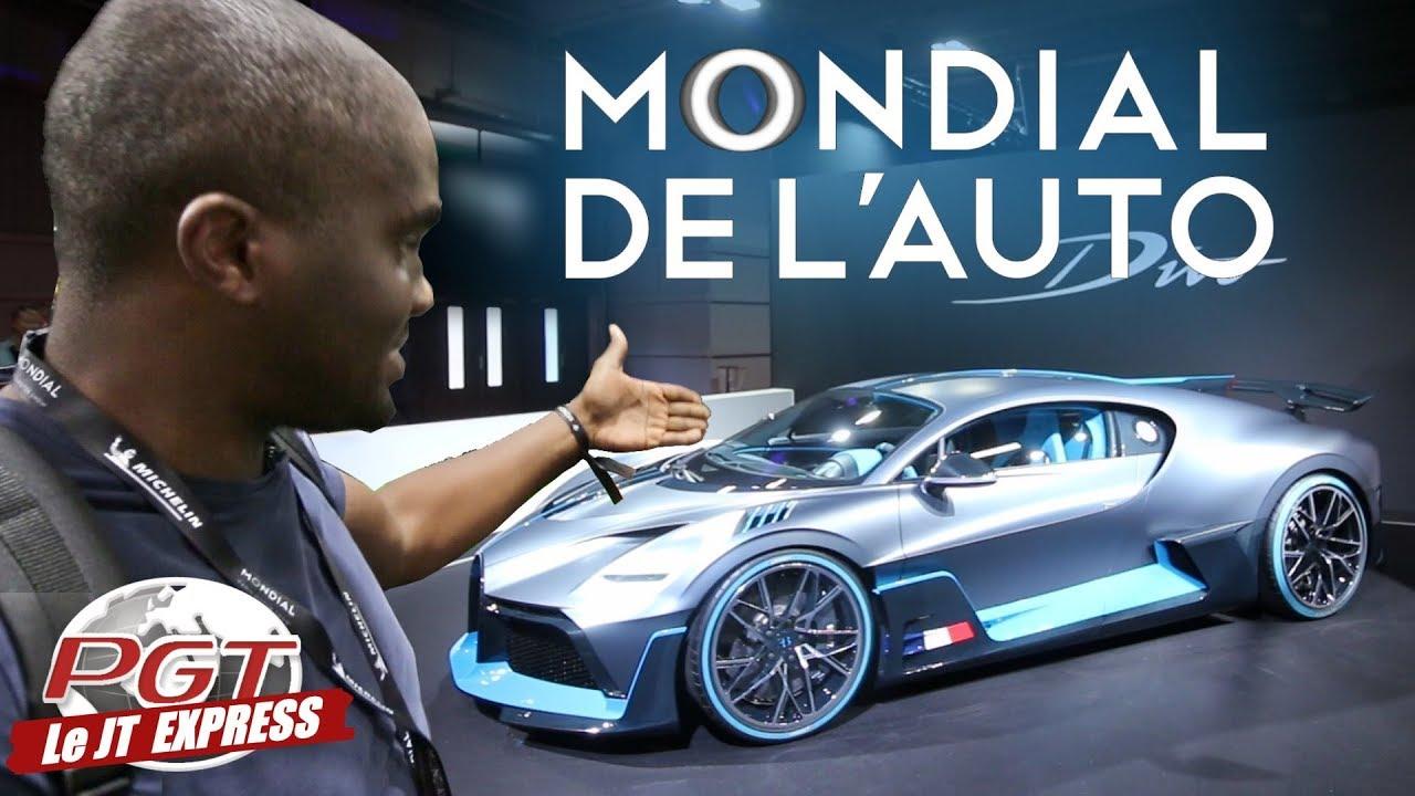 Balade au Mondial Auto 2018 ! (Bugatti Divo, Megane RS Trophy, Aventador SVJ...)
