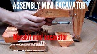 ASSEMBLY DIY Mini Excavator RC awesome (merakit traktor Excavator mainan suntikan buatan sendiri)