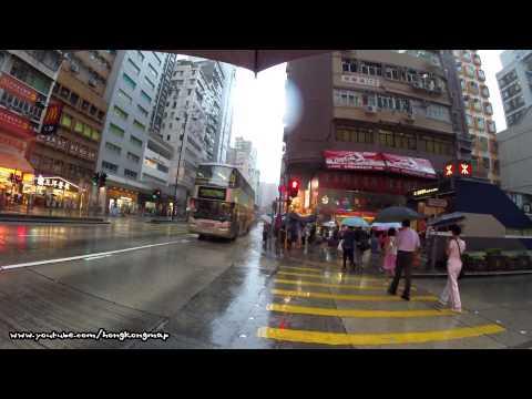 【Hong Kong Walk Tour】Nathan Road in an Amber raining day (Sony AS-100 + GoPro 3+)