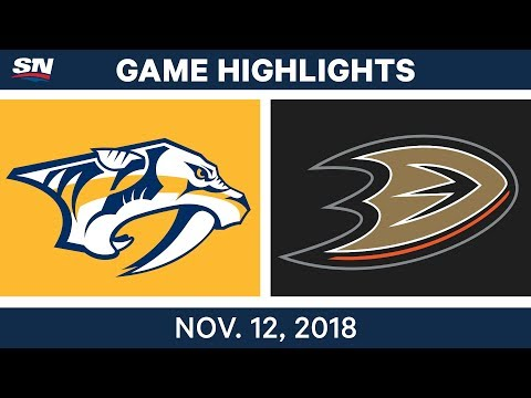 NHL Highlights | Predators vs. Ducks – Nov. 12, 2018