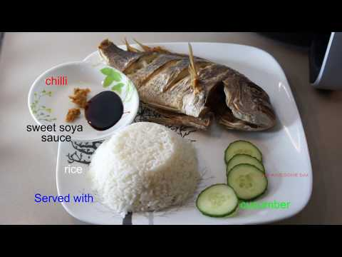 2 whole snapper fish Airfry in Philips AirFryer XXL - Ikan Goreng Air Fry