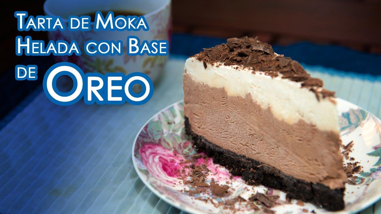 Tarta de Moka Helada con Base de Oreos