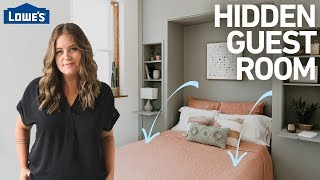 How to Build a Hidden Guest Room w/ a Murphy Bed