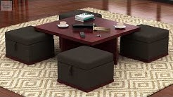 Coffee Table Sets - Shop stylish Wooden coffee tables with stools online from Wooden Street