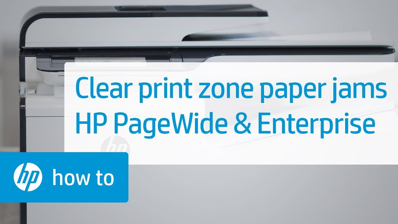 Clearing Print Zone Paper Jams: HP PageWide Pro Printers and Enterprise  Printers | HP Printers | HP