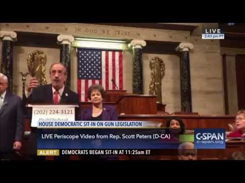Westchester Congressman Eliot Engel speaking on the House floor during the Democratic sit-in on June 22, 2016.