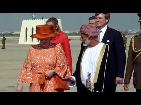 Staatsbezoek Oman dl2 koningin Beatrix/ State visit Oman Queen Beatrix