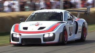 """Porsche 935 """"Moby Dick"""" in Action at Festival of Speed! - 700HP Twin Turbo Flat-6 Engine Sound!"""