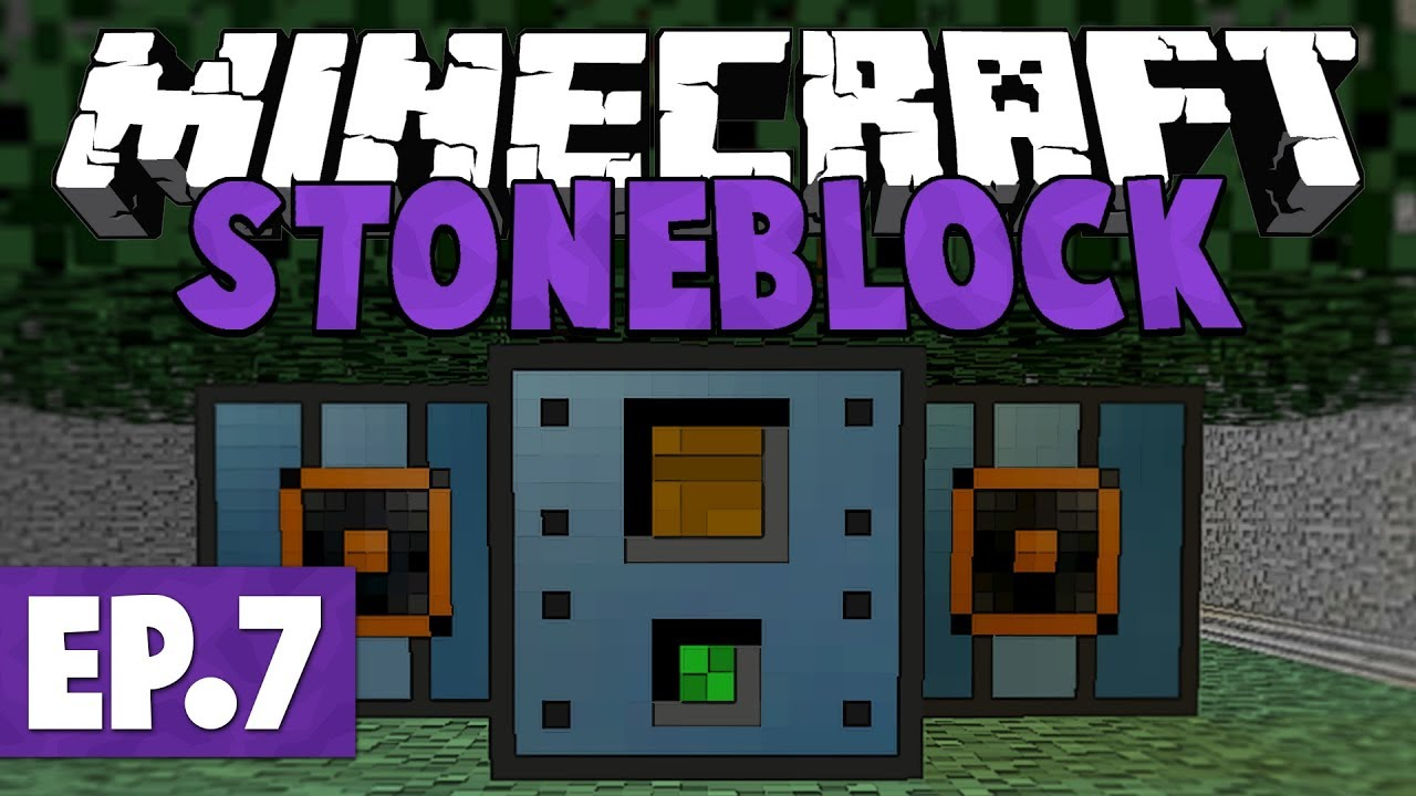 Minecraft StoneBlock - Arboreal Extractor Power & Flux Networks! #7 [Modded  Questing Survival]
