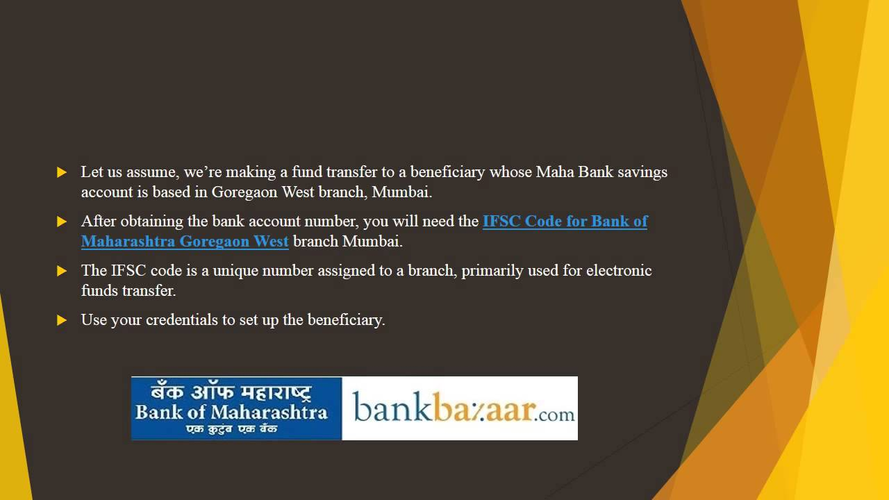 Online Fund Transfer Using Bank of Maharashtra Internet Banking