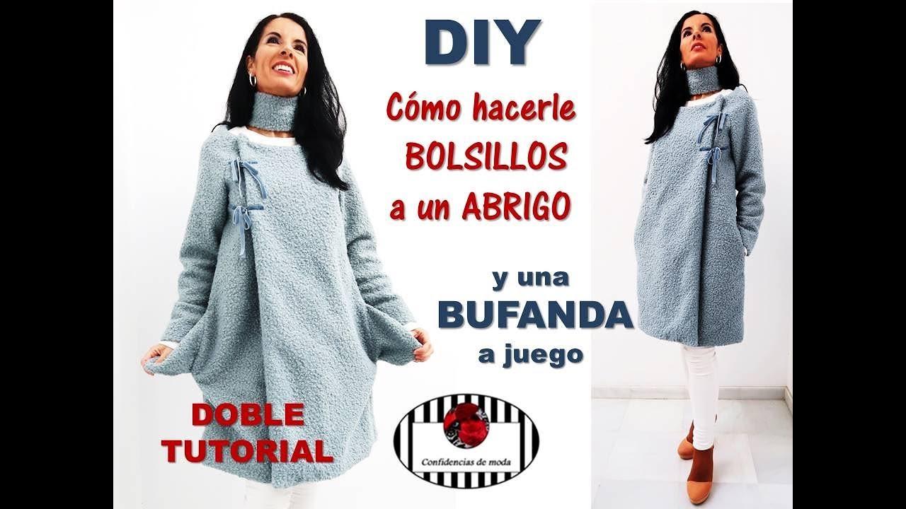 8d5c4c875a94d DIY. Cómo hacer bolsillos y bufanda de la forma más fácil del mundo ...