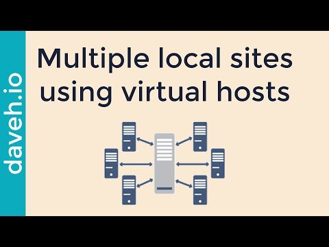 Develop multiple websites in the web root using virtual hosts