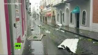 devastacin en san juan puerto rico durante el paso del huracn mara