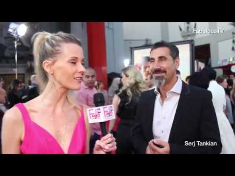 """Serj Tankian lead singer of 'System of a Down' at """"THE PROMISE"""" red carpet"""