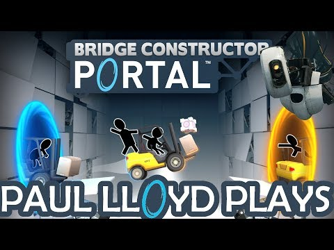 BRIDGE CONSTRUCTOR PORTAL - Level 31 (Gameplay)