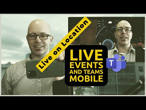 Present in a Live Event from Microsoft Teams mobile