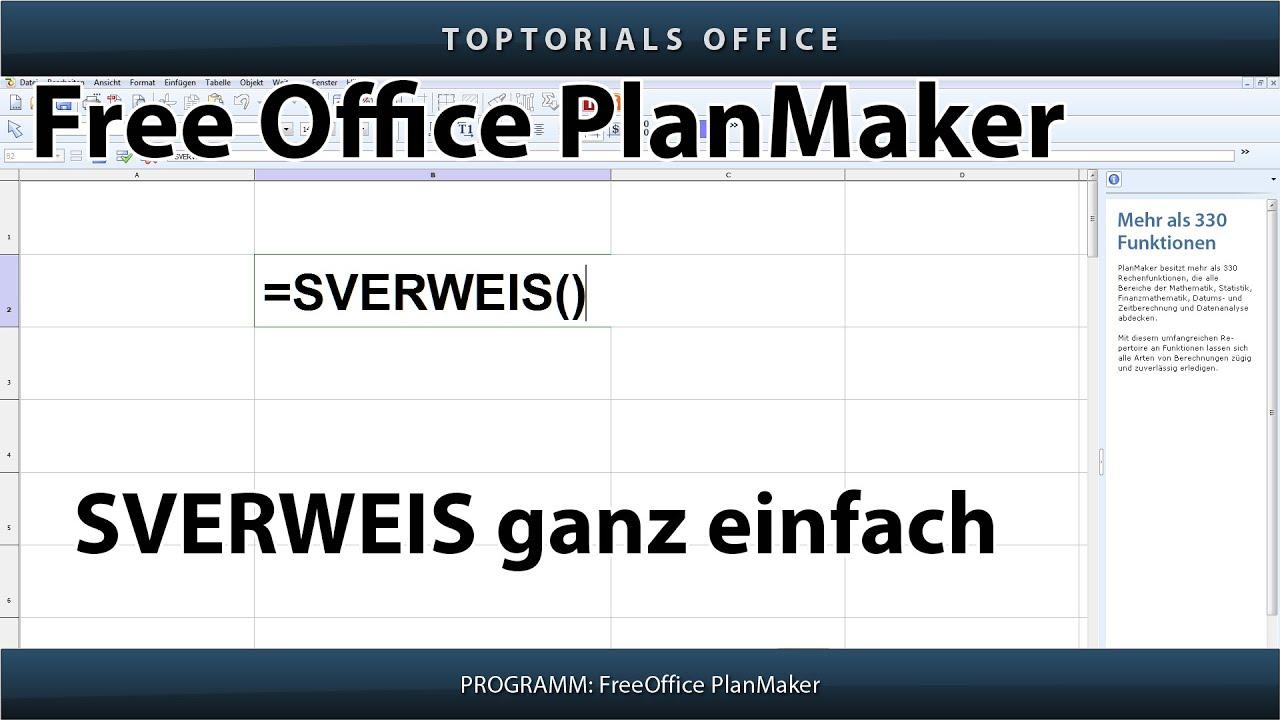Sverweis Ganz Einfach Free Office Planmaker Youtube
