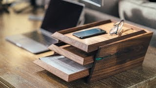 DIY Modern Paper Tray || How To Build - Woodworking