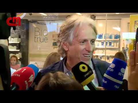 Jorge Jesus saying he's going to Madrid to negotiate with Flamengo's president.