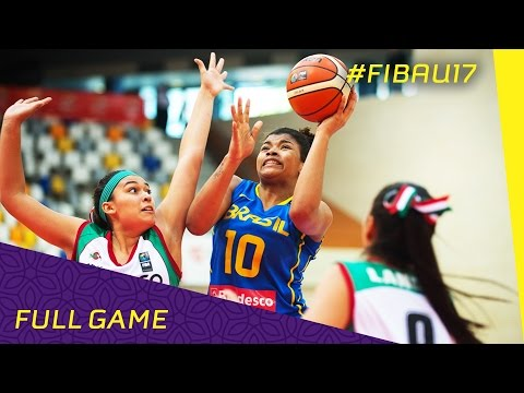 Mexico v Brazil - CL 13-14 - Full Game - FIBA U17 Women's World Championship 2016