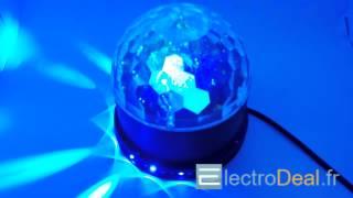 IBIZA - UFO-ASTRO-BL - EFFET DE LUMIERE 2-EN-1 A LED RVB