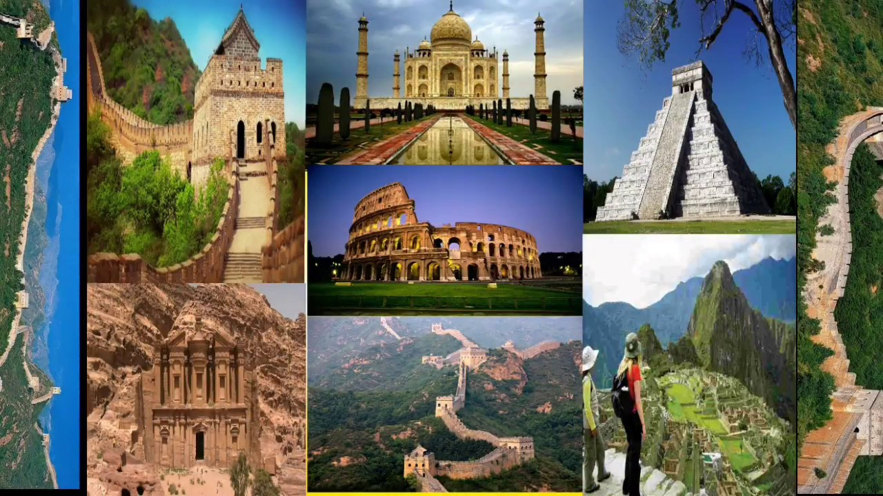 the seven wonders of the world - 1280×720