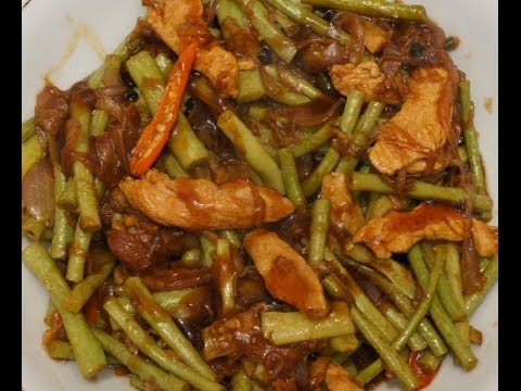 Paano magluto Adobong Sitaw  Recipe - Filipino Food - Long Beans with Chicken - Pinoy Tagalog