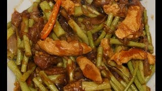 Adobong Sitaw  Recipe - Filipino Food - Long Beans with Chicken - Pinoy Tagalog