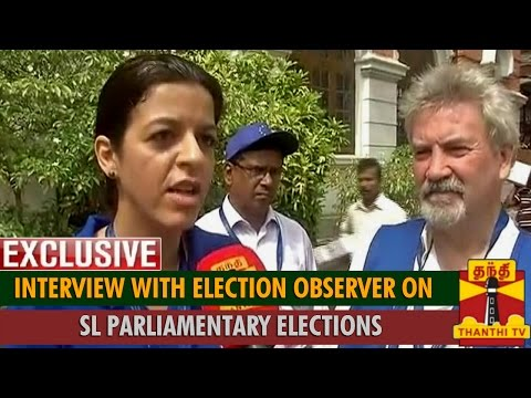 Exclusive Interview with Election Observer on Sri Lankan Parliamentary Elections - Thanthi TV