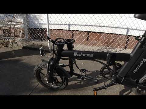 ELECTRIC BIKE REVIEW Folding Ebike! Eahora X3