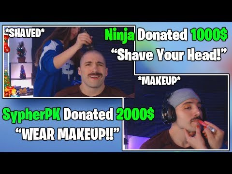 Nickmercs Wears MAKEUP & Shaves His Head After Ninja BIG Donations Fortnite FUNNY & Daily Moments