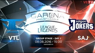 08082016 highlight vtl vs saj gpl summer 2016 day 1