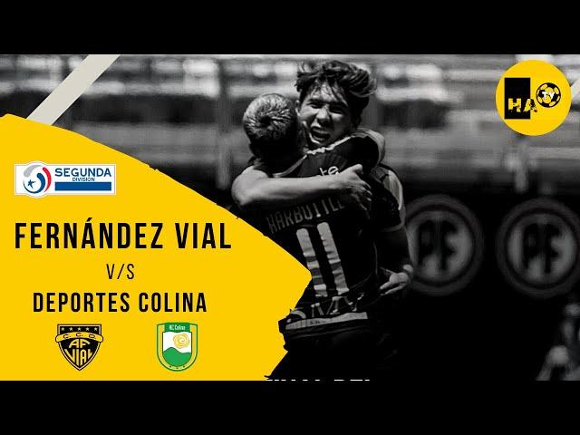 COMPACTO / D.COLINA (0) v/s FERNÁNDEZ VIAL (3) / SEGUNDA DIVISIÓN