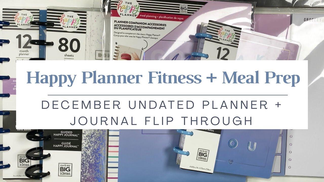 Happy Planner Winter Release | Fitness + Meal Prep Flip Through | Undated Planner, Accessories
