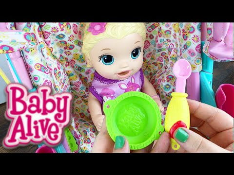 Baby Alive Super Snackin Lily Doll Feeding And Diaper