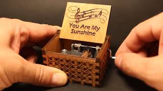 Antique Carved Music Box - You Are My Sunshine