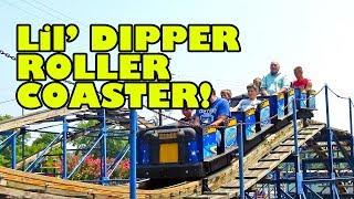 Lil' Dipper Junior Wooden Roller Coaster Front Seat POV Camden Amusement Park USA