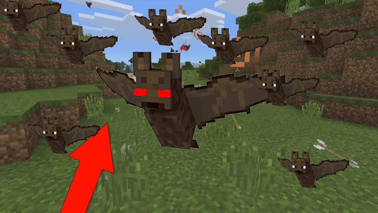 Killer Bats In Minecraft Pocket Edition Minecraft Addon Youtube