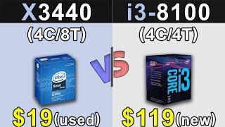 xeon X3440 (3.8GHz) Vs. i3-8100  GTX 1060 6GB  Which is a Better Value For MONEY...???