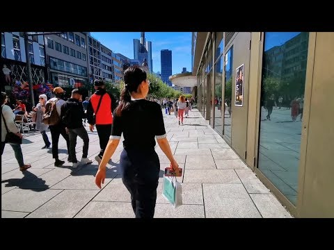 Walking On Zeil, City Center Frankfurt, Germany