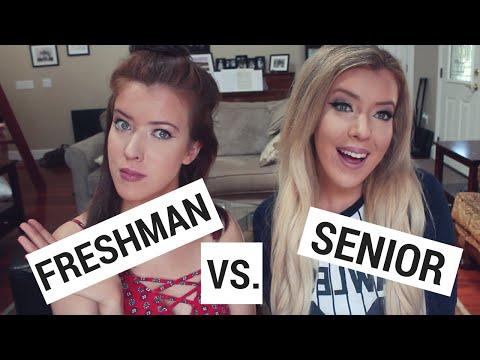 Freshman Year vs Senior Year of College! | Jess and Jenna