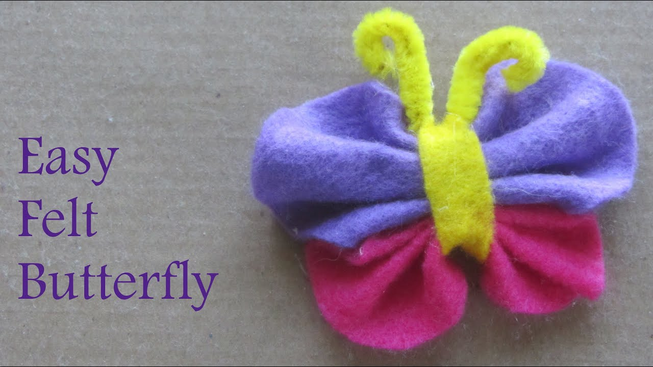 easy felt craft ideas how to make felt butterfly craft ideas 4354